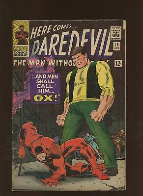 Daredevil 15 VG 3.5 * 1 Book Lot * Men Shall Call Him Ox by Lee & Romita!