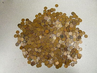 5 Lbs Pounds Of Mixed  Wheat Pennies