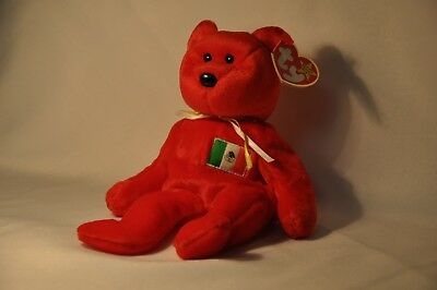 """""""OSITO"""" 1999 Ty Beanie Baby Plush Bear With Tag"""