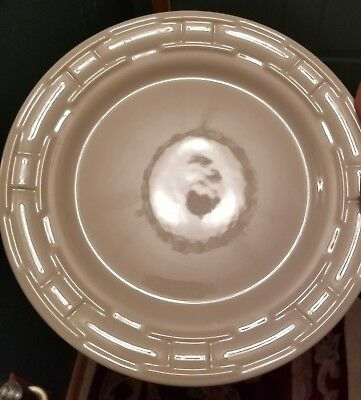 "Set of 4 Longaberger Woven Traditions Ivory Pottery 9"" Luncheon Plates USA"