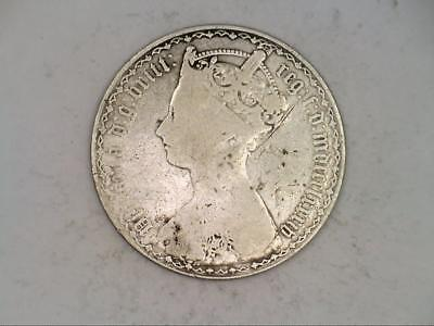 1857 Great Britain One 1 Florin (CC3555)