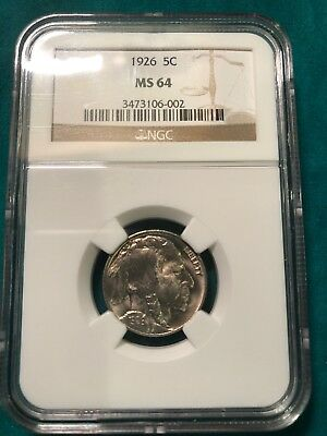 1926 Indian Head Buffalo Nickel NGC MS64