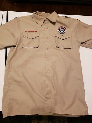 Boy Scout  BSA Uniform Short Sleeve Shirt - Size Adult Small - NICE!!