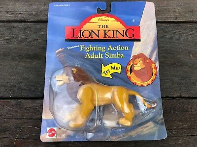 VTG Disney The Lion King Fighting Action Adult Simba Lion Figure MOC