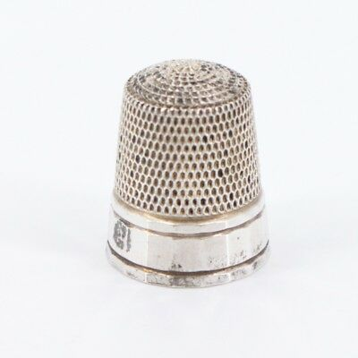 VTG Sterling Silver - Simple Sewing Thimble Size 8 - 3.1g