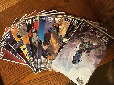 Transformers 2009 Ongoing Comic Book Lot IDW 13 Issue Lot 4 8-14 16 18 25 29