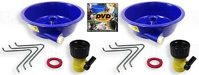 2X BLUE BOWL PAN fine GOLD recovery CONCENTRATOR + Bonus How to DVD