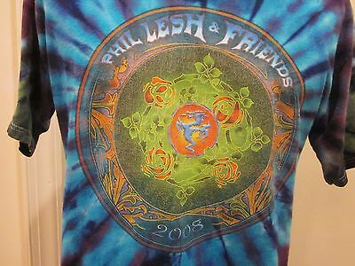 Grateful Dead Phil Lesh & Friends Concert T Shirt 2008 On The Road Tour Dragon