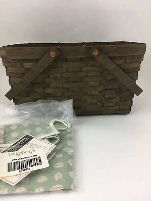 Longaberger 2006 Deep Brown Medium Market Basket Combo Sage Leaf