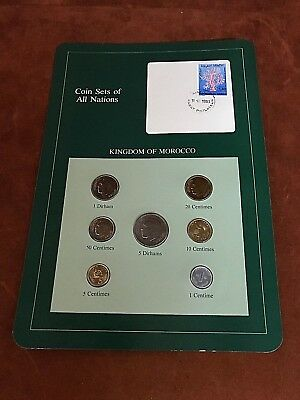 Coin Sets of All Nations ~ KINGDOM OF MOROCCO ~ 7 Pc Mint Set ~ FREE SHIPPING