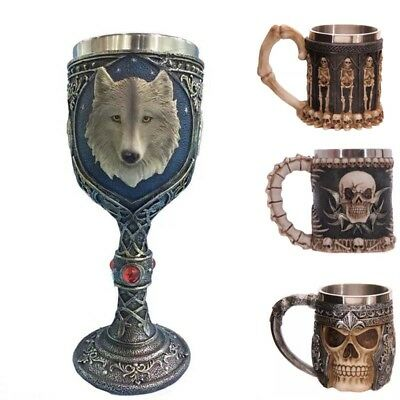 Halloween Creative Horror 3D Wine Cup Goblet Funny Fashion Gift Skull Hand Retro