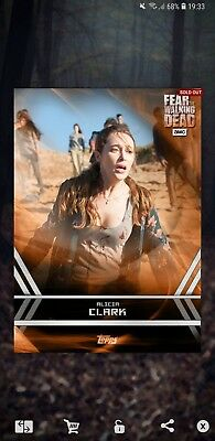 Topps the walking dead card trader alicia orange steel insert 10cc
