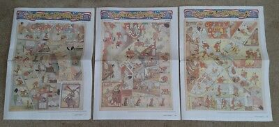 Lot of 3 Sunday Funnies #1 - 96 Pages of Full Size Sundays - 1900-1925