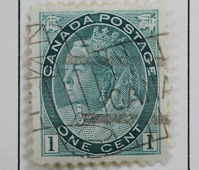 Canadian Stamp Scott #75 F/VF LH Hinged 1 Cent Green Queen Victoria Numeral