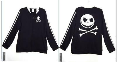 L/XL new mens Disney Nightmare Before Christmas punk gothic Jack Track Jacket