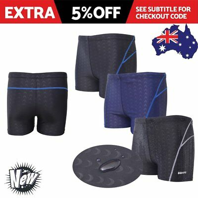 Clearance Men's Swimming Trunks Boxer Shorts Sharkskin Racing Pants Underwear AU