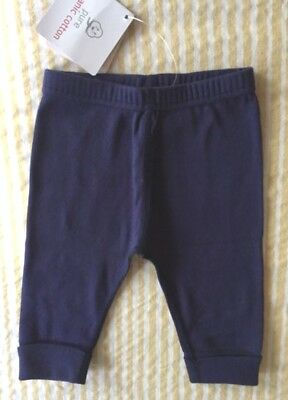 Girls Boys Hanna Andersson Navy Knit Pants 60 6 12 Months Nwt