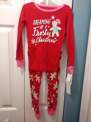 Carter's Little Girl's Size 4T Christmas2 Piece Pajama Set