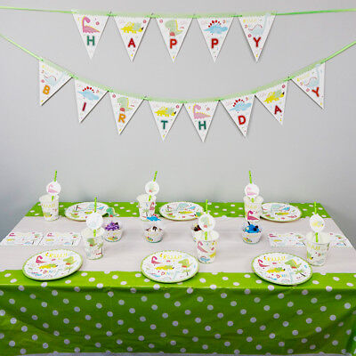 74pcs/lot For 12 Kids Dinosaur Theme Birthday Party Decoration Tableware Set
