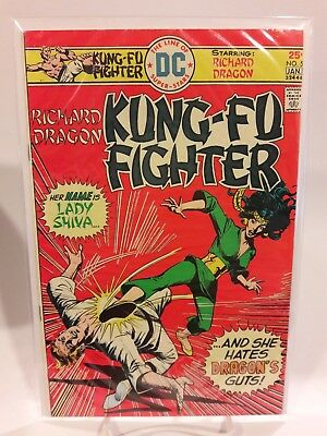 Kung Fu Fighter #5 First Appearance Of Lady Shiva 1975 Good Condition !!!