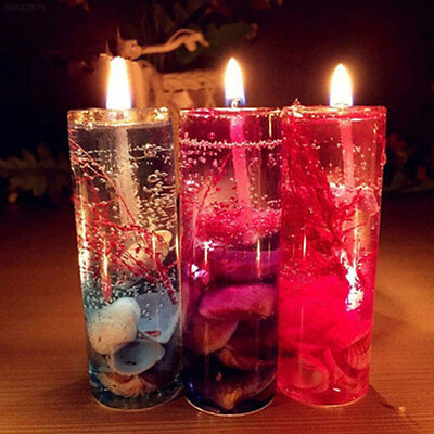 83F8 Romantic Aromatherapy Candles Ocean Shells Scented Jelly Candle Decoration