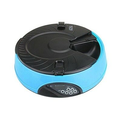 Automatic pet bowl - BLUE - 6 x 330ml meals - digital lcd dog cat timer feeder