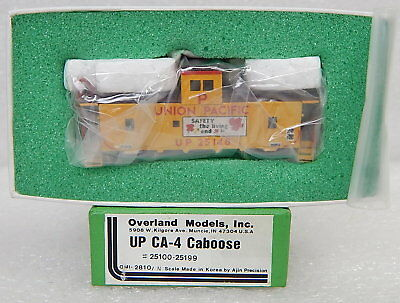 Overland Models Ajin N scale brass Union Pacific CA-4 Caboose New* Mint