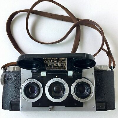 Stereo Realist Camera David White Co. Milwaukee Wis. F/3.5 Lenses Untested