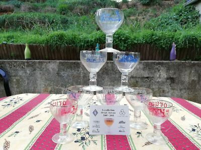 6 verres Orval collection Jean-Claude Servais + 2 baby verres Servais offerts