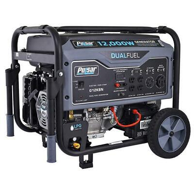 Pulsar 12000W Portable Dual Fuel Propane/Gas Generator w/ Electric Start G12KBN