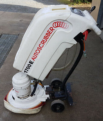 Polivac 1700E Auto Scrubber Floor Scrubber with Water Tank Walk Behind