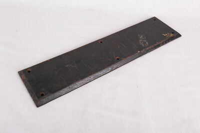 "Antique Iron Door Push Plate, 16"" x 4"""