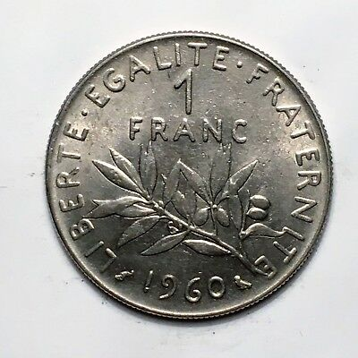 """1960 France Franc, """" The Seed Sower"""", A Lovely French Classic!"""