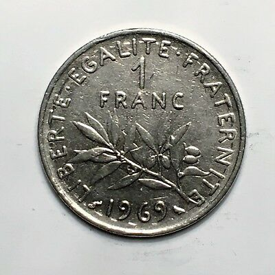 """1969 France Franc, """" The Seed Sower"""", A Lovely French Classic!"""