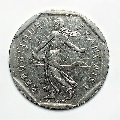 """1980 France 2 Francs, """" The Seed Sower"""", A Lovely French Classic!"""