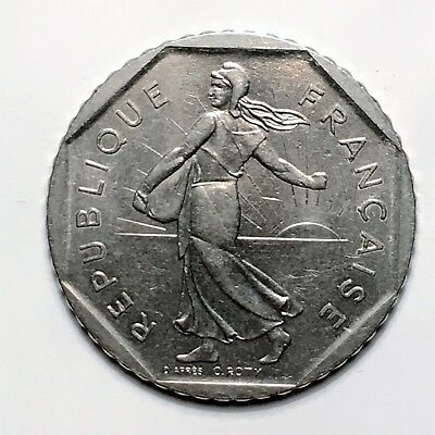 """1981 France 2 Francs, """" The Seed Sower"""", A Lovely French Classic!"""