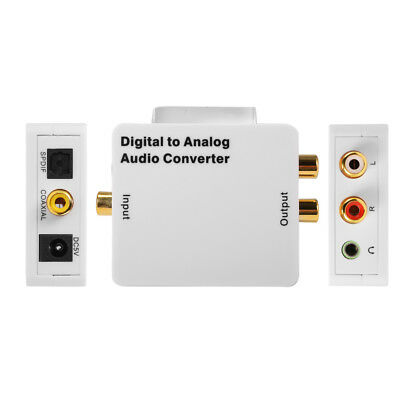 Digital Optical Coaxial Toslink to Analog RCA L/R Audio Converter Adapter AH313