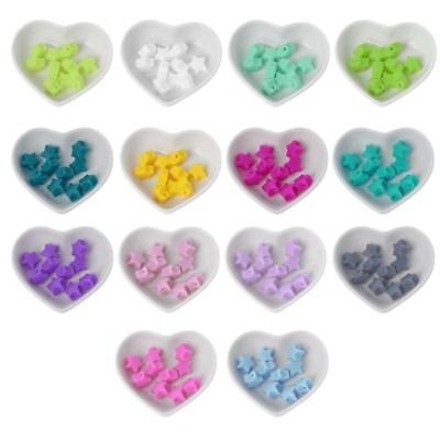 10Pcs Star Silicone Beads Baby Teething Beads DIY Pacifier Chain Baby Teether