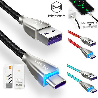 MCDODO USB-C Type C FAST Charging Sync Charger Cable Samsung Galaxy Note9 S9 S10