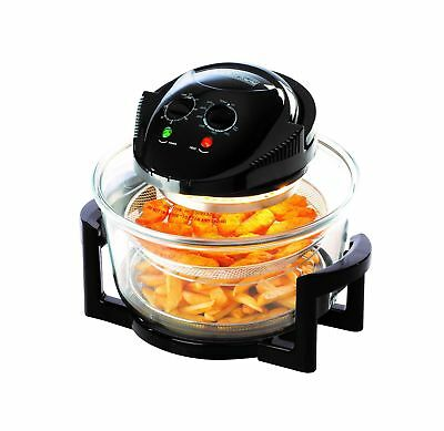 Daewoo Deluxe 1.7L 1300W Halogen Air Fryer with 60min Timer with Self-Cleanin...