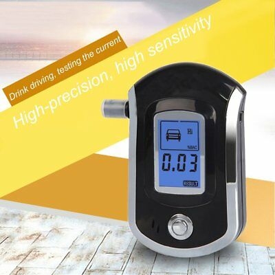 Digital Breath Alcohol Tester LCD Breathalyzer Analyzer With 5 Mouthpiece AU