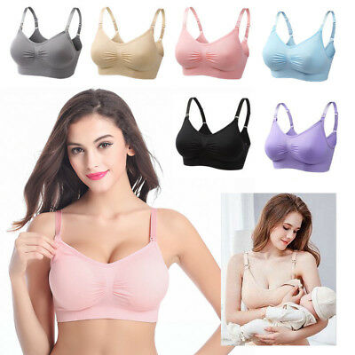 Still BH ohne Bügel 1/3er Feeding Bras Maternity Nursing Breastfeeding Schwarz
