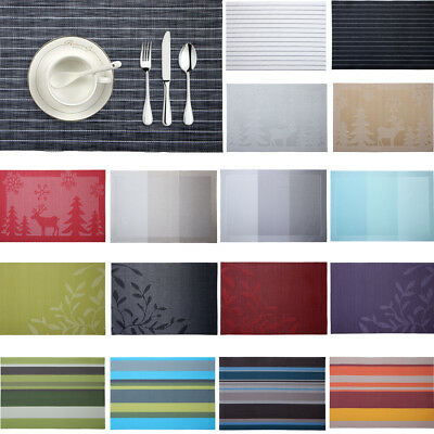Placemat Woven Non-slip PVC Insulation Placemat Washable Table Mats For Kitchen