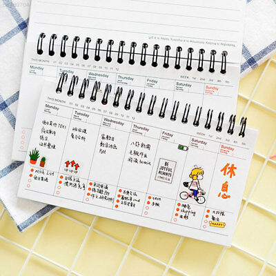1DD7 Work Notebook Double Coil Design Stationery Time Organizer PP Notepad