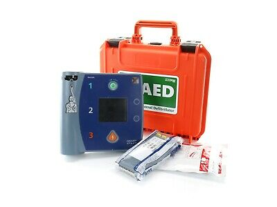 Philips Laedral FR2+ Heartstart AED ECG +New Waterproof Case +New Battery +Pads