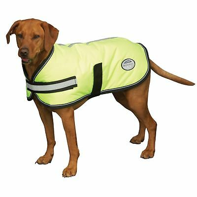 Weatherbeeta Reflective Hi Vis Parka 300D Dernier Dog Coat Waterproof Breathable