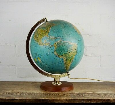 Vintage Globe Lamp Mid Century 1969 Scan Globe Danish Light Illuminated Retro