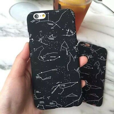 For iPhone X 8 7 Plus 5 6S Case Pattern Hard Constellation Shockproof Slim Cover