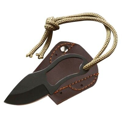 Mini Pocket Finger Paw Self-Defence Survival Fishing Neck Knife With Sheath