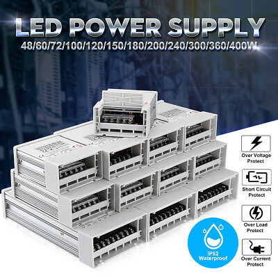 24V 48-400W LED Switching Power Supply Driver Transformer IP52 for LED Strip